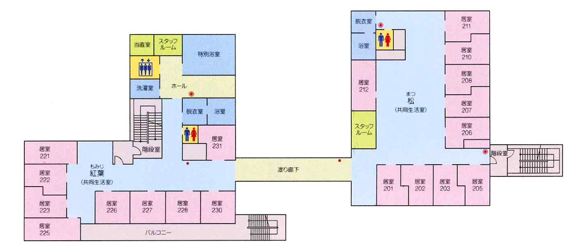 高倉荘2Fフロア